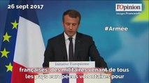 Armée, terrorisme, enseignement... Macron expose ses projets européens