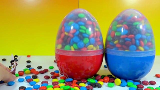 M&Ms Big Surprise Egg Toys Tinker Bell Surprise Egg Disney Cars 3 Mashems Smurfs The Lost Village