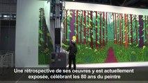 David Hockney donne une de ses peintures au musée Pompidou