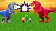 Peppa Pig O Bom Dinossauro George Pig VS dinossauros de fogo e de gelo TOTOYKIDS