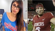 Porn Star Mia Khalifa Gets REJECTED by Oklahoma QB Baker Mayfield After Creeping on Twitter
