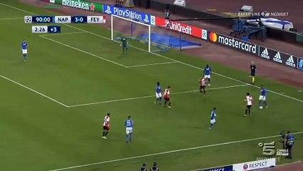 Napoli 3 - 1 Feyenoord 26/09/2017 Sofyan Amrabat Super Goal 90' HD Full Screen Champions League .