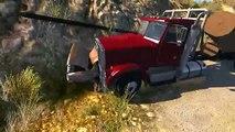 Камни на дороге BeamNG тачки налетают на препятствия Дорожные аварии на скорости Машины в хлам!