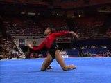 Dominique Dawes - Floor Exercise - 1996 U.S Gymnastics Championships - Women