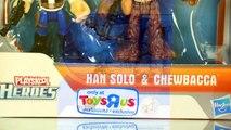Star Wars: Jedi Force w/ Han Solo Chewbacca Darth Vader & Jango Fett by Playskool Heroes
