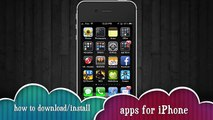 How to Install/ download Free Applications for iPhone 5, iPhone 4S, iPhone 4, iPhone 3GS