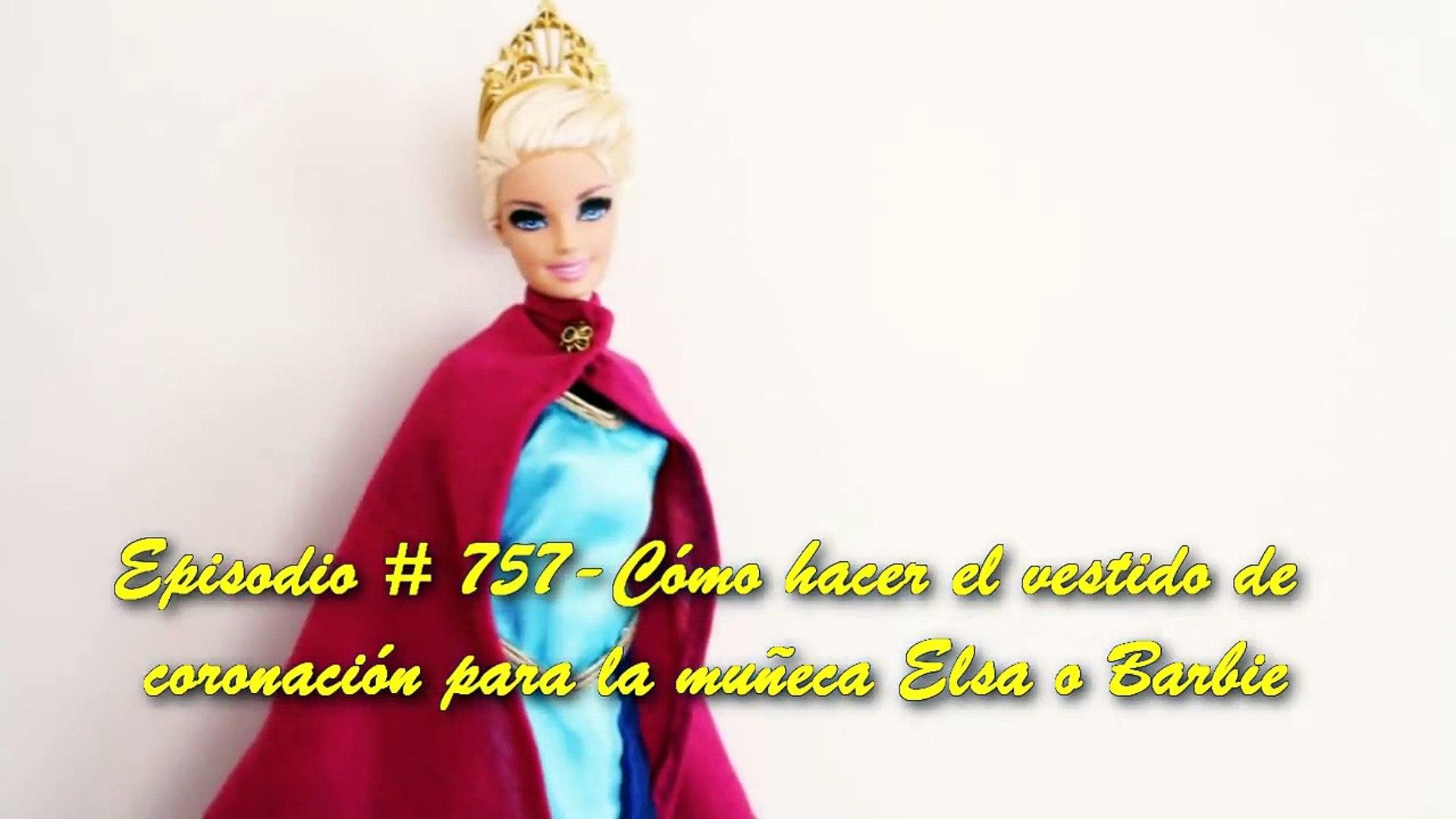 Manualidades Para Muñecas Cómo Hacer Una El Vestido De Coronación Para Elsa De La Película Frozen