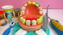 Le Dentiste travaille avec de la pâte à modeler Play Doh et fait des dents (Français)