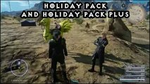 Final Fantasy 15 - Holiday Pack Items Revealed and ingame effects! 1.03