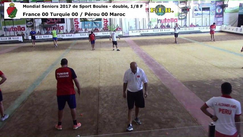 Huitièmes de finale du double, Mondial Seniors, Casablanca 2017