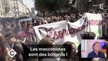 [Zap Actu] Les images du comité d'accueil anti-Macron devant la Sorbonne (27/09/17)