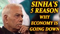 Yashwant Sinha comes hard of Modi government for economic slow down, 5 reasons | Oneindia News