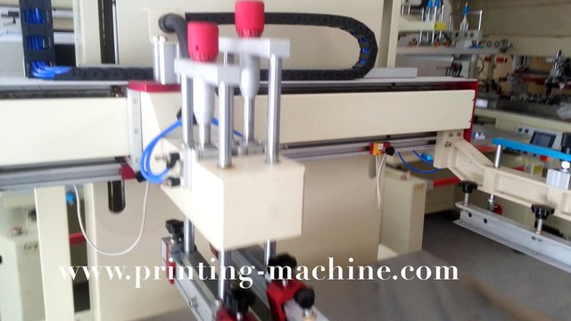 DX-5070P electric flat bed screen printing machine