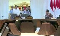 Presiden Jokowi Gelar Rapat Terbatas Penanganan Gunung Agung
