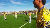 BEHIND THE SCENES BASEBALL SCRIMMAGE