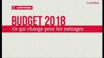 Budget 2018: ce qui change pour les ménages