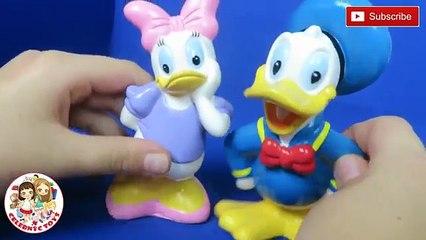 Disney Mickey Mouse & Friends Clubhouse Rubber Bath Toys Minnie Goofy Donald Daisy Pluto Splash