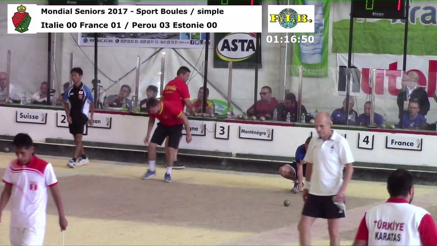 Seconde phase du simple, Mondial Seniors, Casablanca 2017