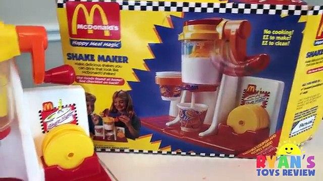 McDonalds Shake Maker & McDonalds Cash Register! Kids Pretend Play Food Happy Meal Surpr