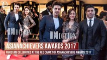 Pakistani Celebrities at the Red Carpet of Asian Achievers Awards 2017 in London