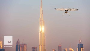 A flying taxi has taken to the skies for the first time