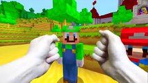 REALISTIC MINECRAFT - STEVE MEETS MARIO & LUIGI (Super Mario)