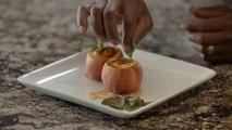 Peaches & Cream - Créme Brulée with Vodka Peach Sauce