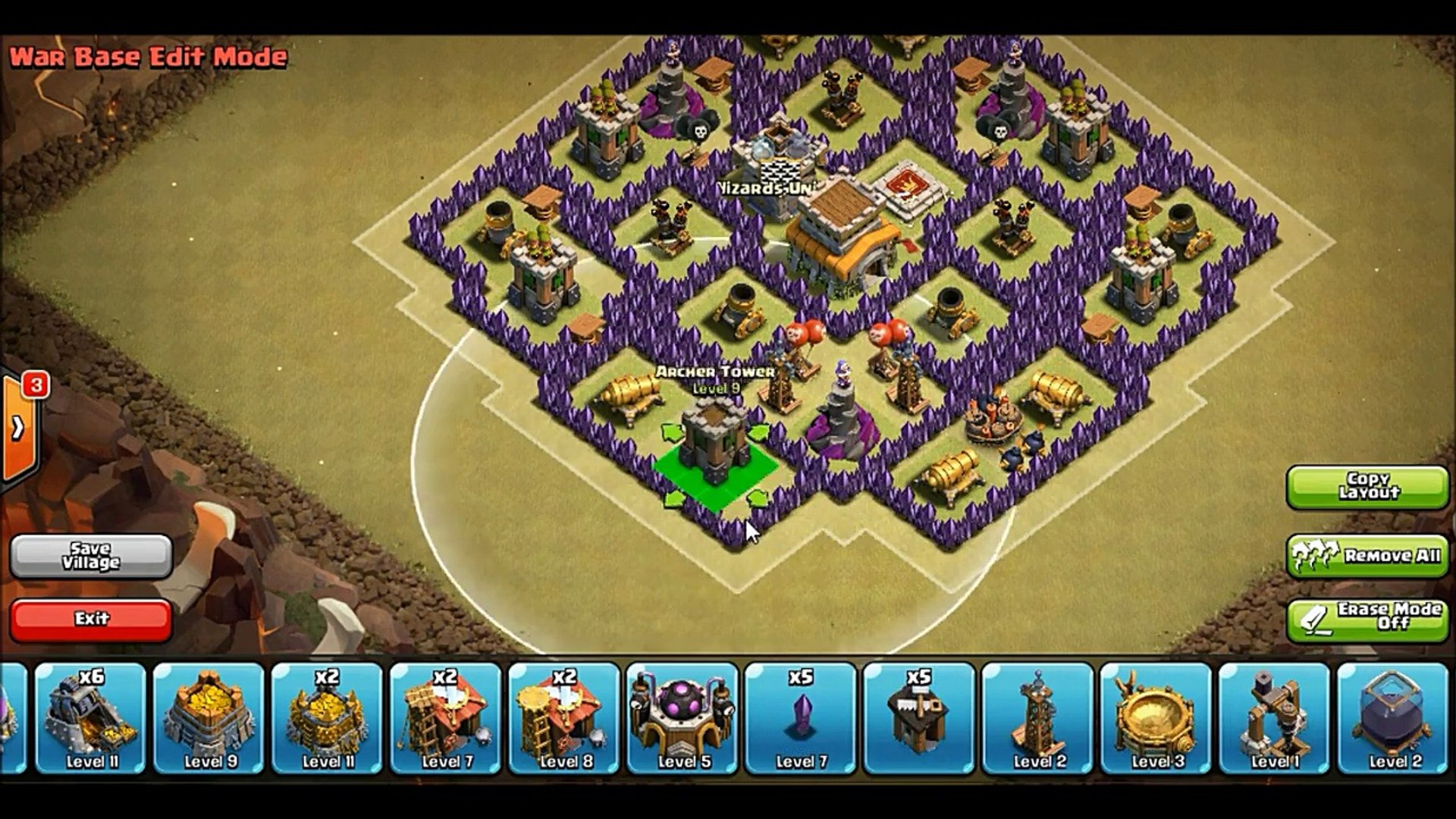 CLASH OF CLANS - Town Hall 8 CLAN WAR BASE + DEF CLIP - ANTI DRAGON GIANT |  TH8 TH 8