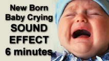 Baby Crying - New Born Baby Crying 6 minuntes SOUND EFFECT freesound