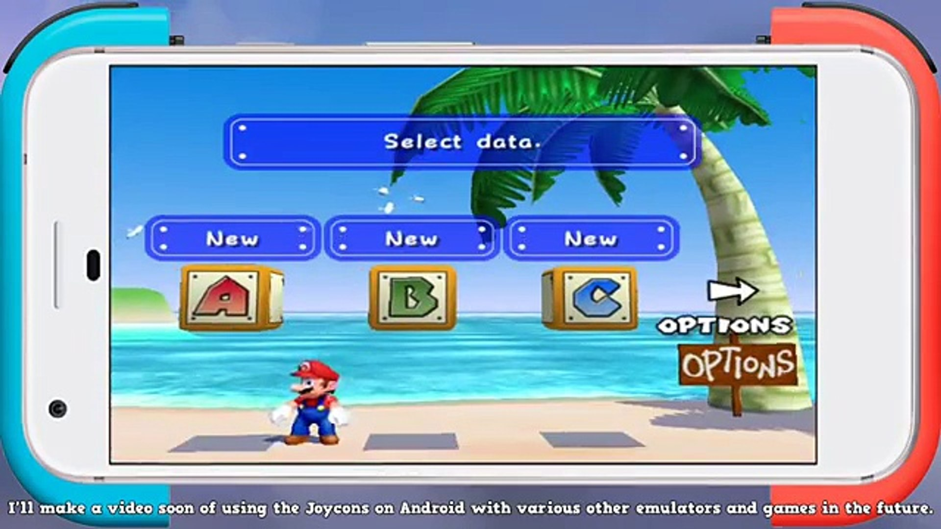 Super Mario Sunshine Multiplayer Mod on Android with Joycons | Dolphin  Emulator