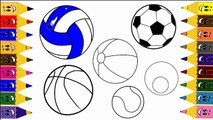 Sport ball for Children,Coloring and Drawing with SPORT BALLS For KIDS