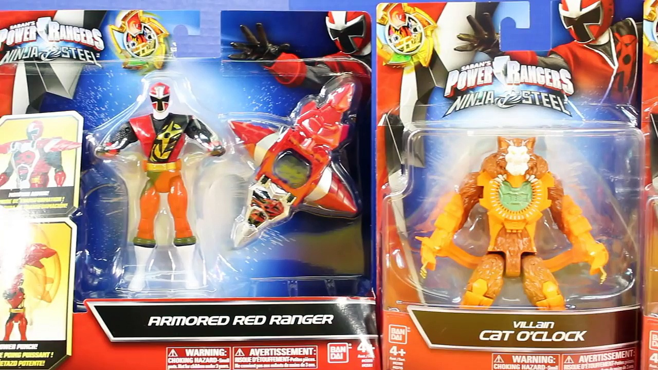 Power Rangers Ninja Steel Armored Red And Blue Ranger Defend Gotham City From Villains Toys
