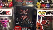 Five Nights at Freddys Series 2 Nightmare Foxy Figure, Funtime Foxy Pop Unboxing & Blind Bag Toys