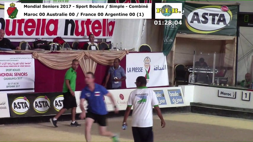 Seconde phase du simple et du combiné, Mondial Seniors, Casablanca 2017