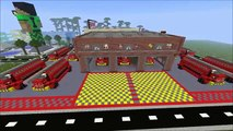 Minecraft Fire Brigade Or Fire Station & Fire Engines