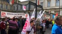 Pouvoir d'achat en baisse: 200 retraités manifestent à Bourg-en-Bresse