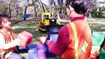 Little Builders 4 - The Hulk, Kids Building Blocks, and Ride on Construction Trucks for Children