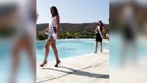 Miss española hace el ridículo: ¡desfile a la piscina!
