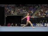 Olivia Trautman- Floor Exercise - 2016 P&G Gymnastics Championships – Sr. Women Day 1