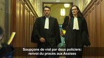 Soupçons de viol par 2 policiers: renvoi du procès aux Assises