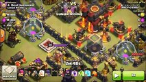 Mass Witch with AQ Healer Combo - Max TH10 3 Star Attacks - Clash of Clans Strategy
