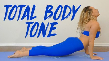Total Body Yoga Burn with Becca ♥ 20 Minute Workout, Tone & Sculpt Beginners Home Fitness