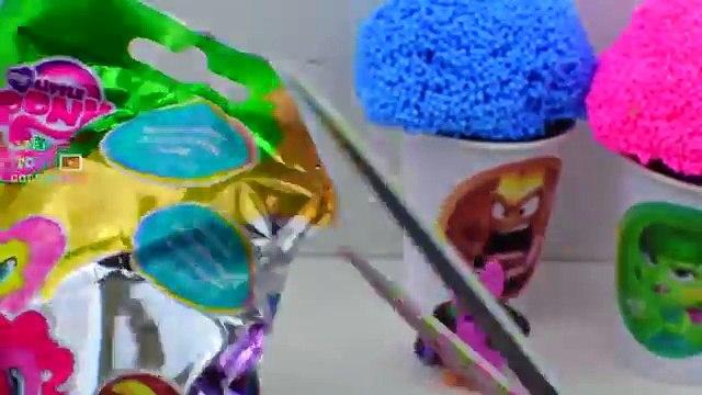 Disney Pixar INSIDE OUT Surprises play Foam eggs Shopkins, My Little pony Squinkies Toys.