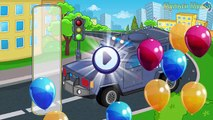 Cars and Trucks - Street Vehicles videos for kids - Puzzle Cars for Kids : Police Car