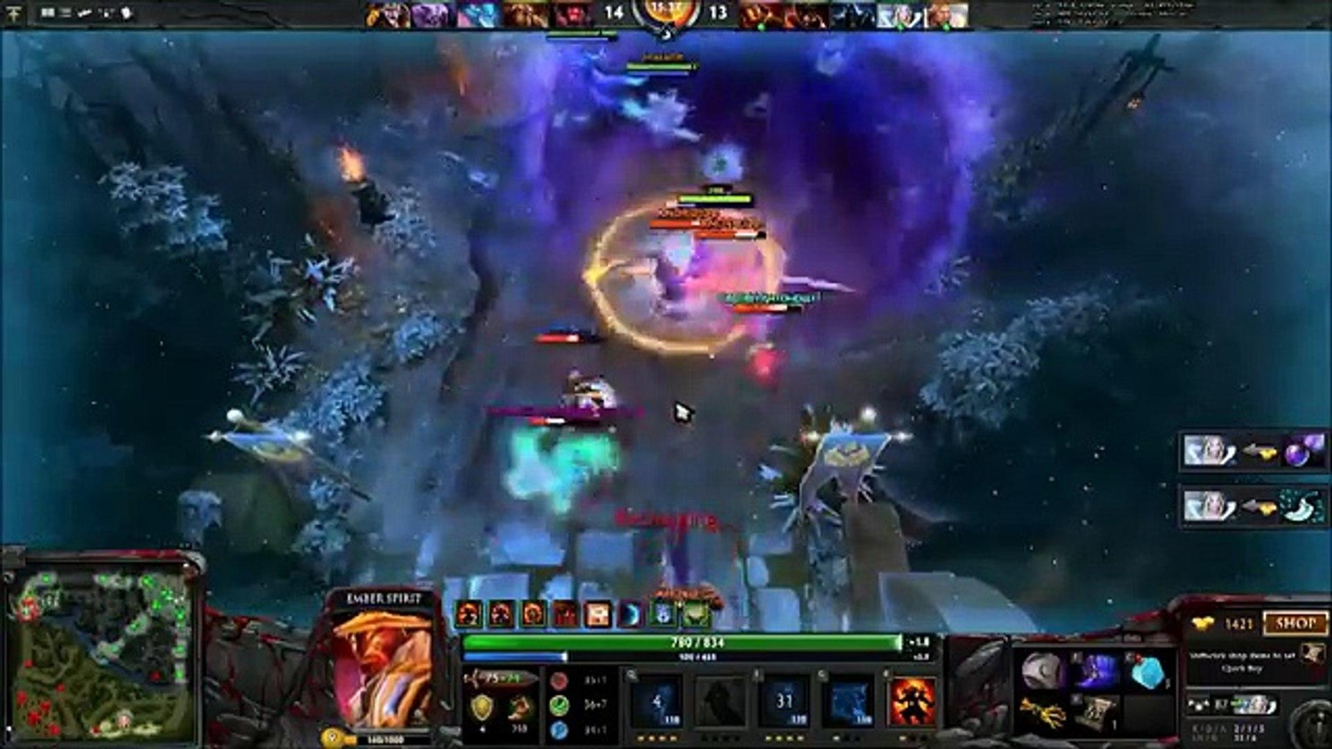 DotA 2 - SingSing (Ember Spirit) goes divine rapier rush in a pub game