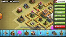 Clash Of Clans - Top 3 Town Hall 5 (TH5) War Base July 2016 ♦ Best War Defensive Base