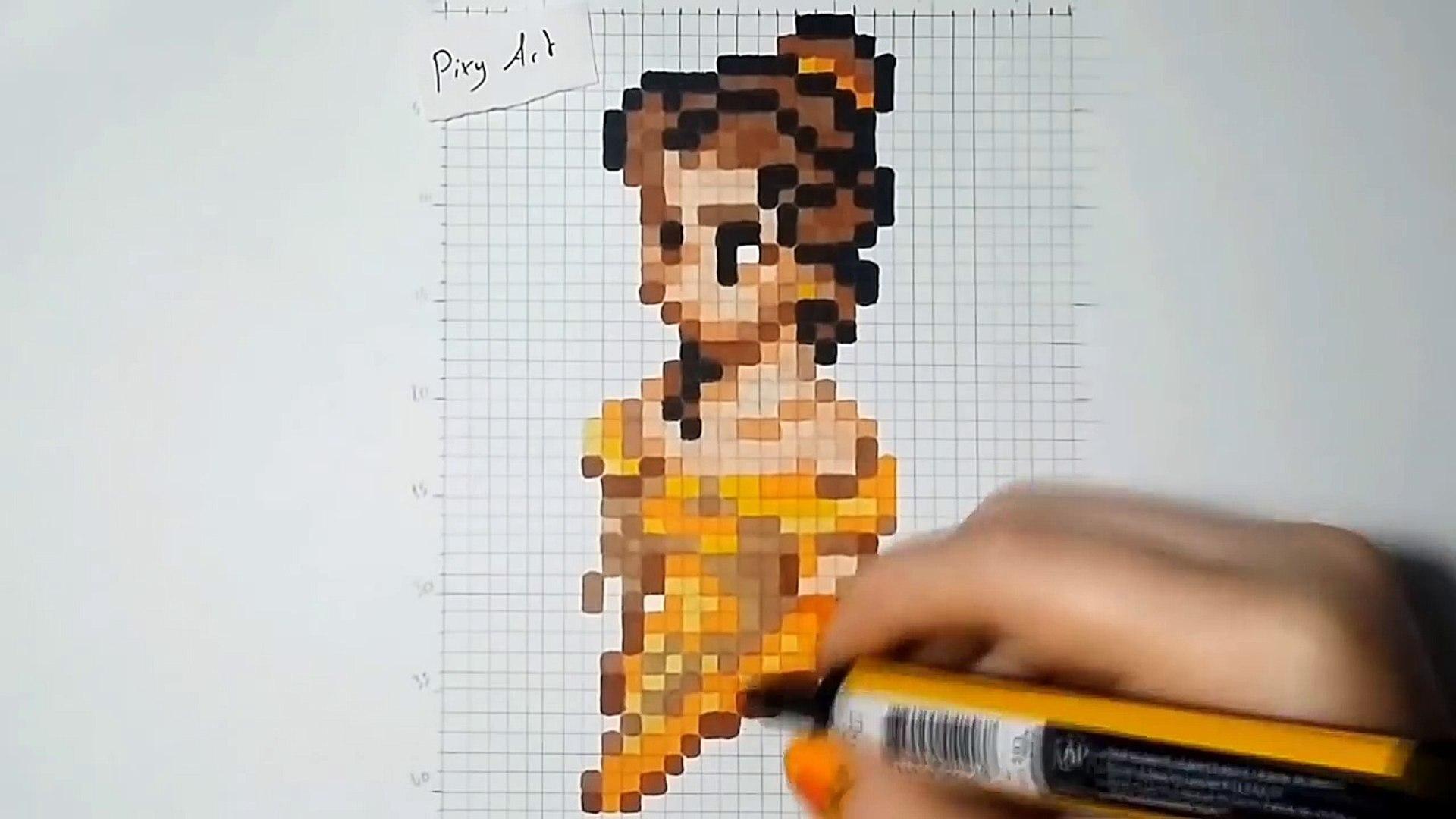 La Belle Et La Bête Pixel Art Belle Lnig0iubnmw