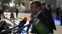 Déclaration du Président de la République, Emmanuel Macron, lors de son arrivée au sommet du Numérique à Talllinn, Estonie