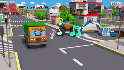 Giant Bulldozer & Big Truck Real Construction Vehicles 3D Kids Cartoon   Cars & Trucks Stories