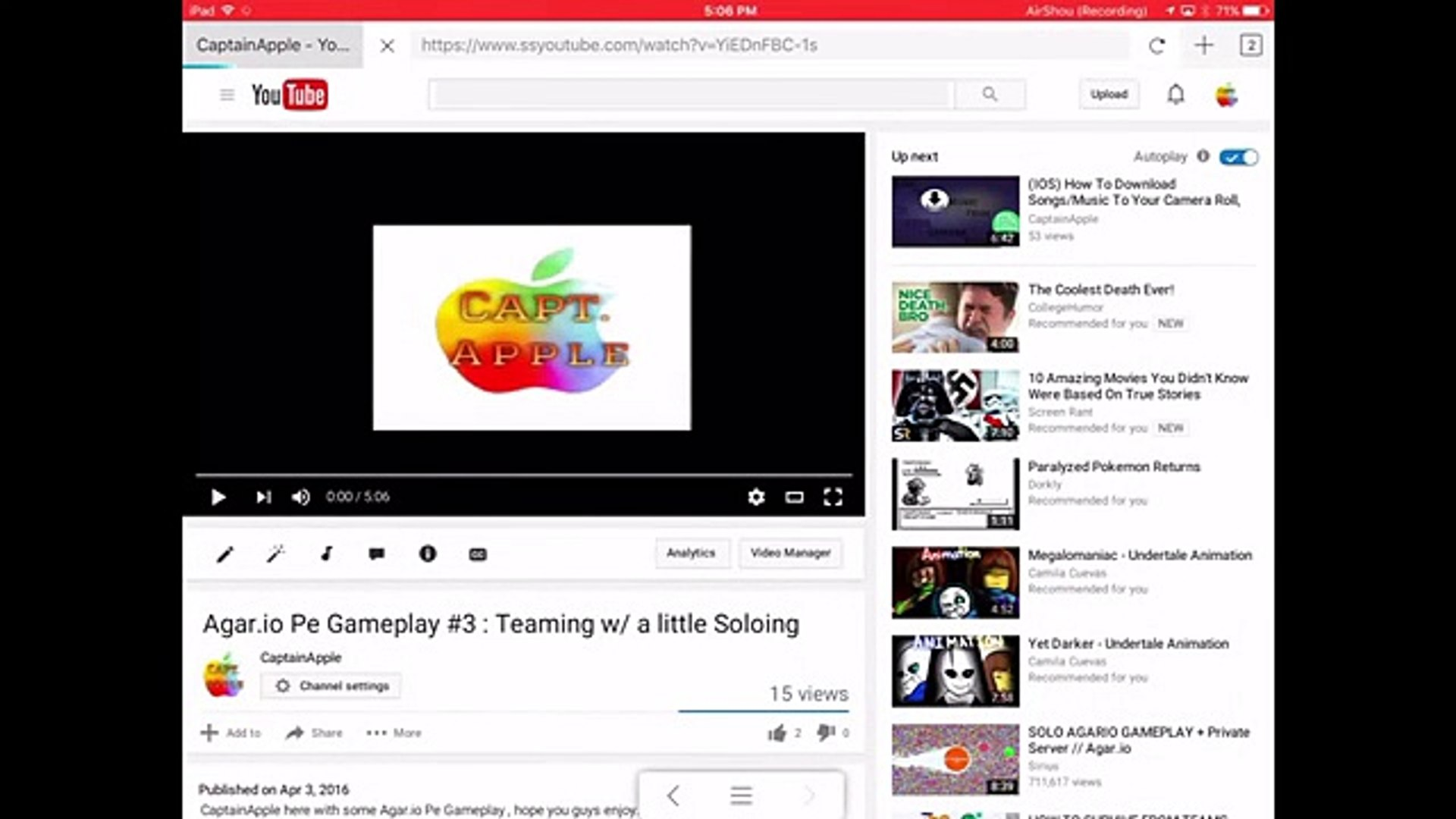 How to Download YouTube Videos onto your IOS device [using Puffin web  browser and ifile organizer]